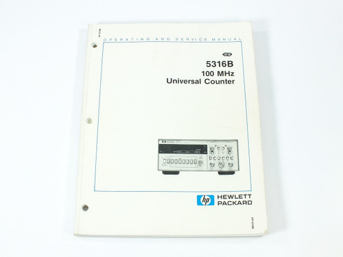 HP 5316B  100 MHz Universal Counter Operating and Service Manual