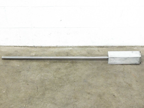 "Thomson 45""  RoundRail Linear Guide Rod 440C Stainless Steel w/ Mounting Blocks"