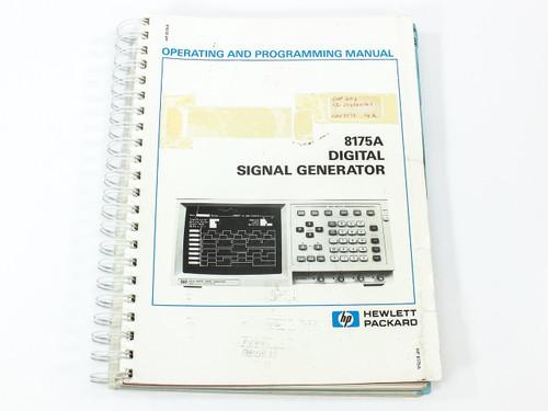 HP 8175A  Digital Signal Generator Operating and Programming Manual