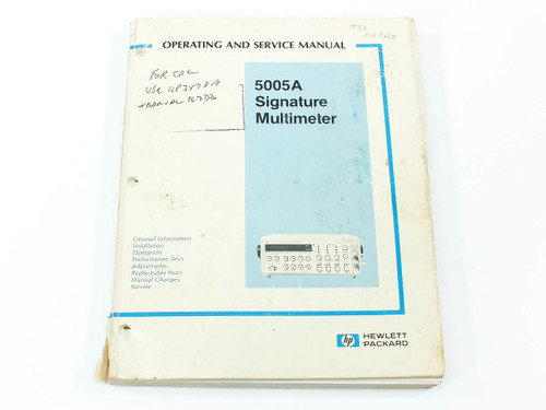 HP 5005A  Signature Multimeter Operating and Service Manual