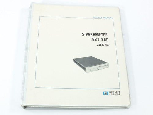 HP 35677A/B  S-Parameter Test Set Service Manual
