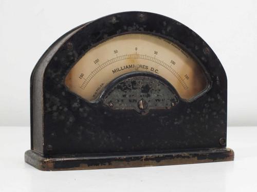 W.U. Tel. Co 1-A 264 Milliamperes DC Volt Meter - VINTAGE - As Is