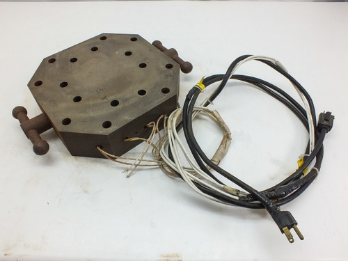 """Steele Octagonal  Heating Block with 9/16"""" Option Holes and Handles"""