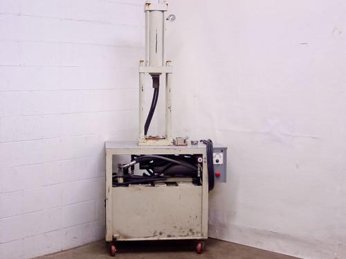 """White 42"""" x 24"""" x 87"""" Hydraulic Press 16"""" Stroke 2.5"""" Rod 208/220 VAC"""
