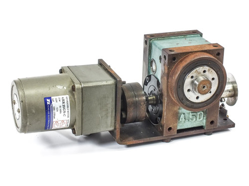 Tung Lee Reversible Motor w/ BD-2AA-007-P01-0 Indexing Drive 4RK25GN-C