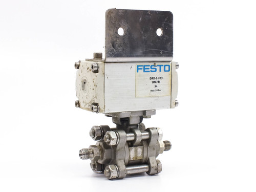 """Festo 189 781 DRD-1-F03 Actuated Ball Valve Assembly 1/4"""" NPT Ports 189781"""