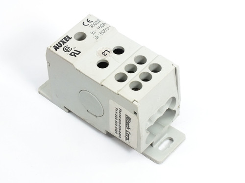 Auxel 1 Phase Power Distribution Block DIN rail 160A 600V~ 38032
