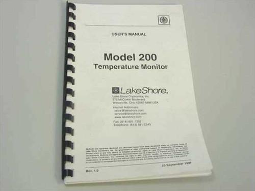 LakeShore Model 200 Temperature Monitor Users Manual (200)