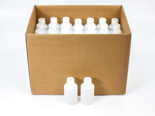 Wheaton 209047 (LOT OF 72) 125 mL HDPE Leak Resistant Bottles with 24-410 Caps