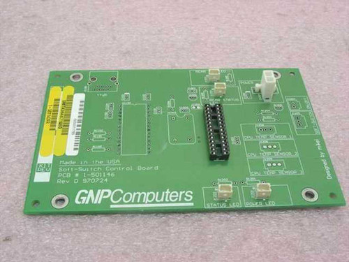 GNP Computers PDSi Soft-Switch Control Board 1-501146 SMTK984671Q8D