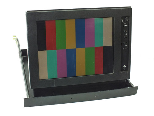 "VideoTek RMM-505B 15.4"" LCD Monitor Fold-Out 19"" Rackmount 1U Drawer"