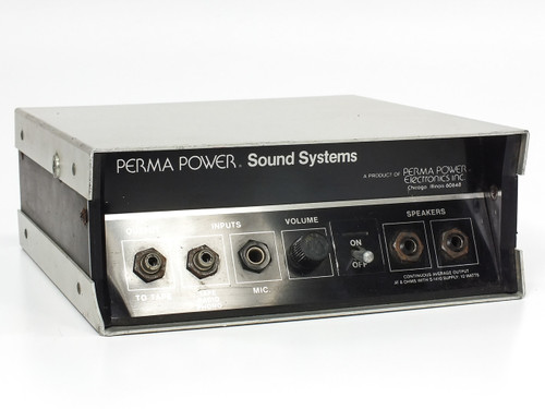 Perma Power S-702 Amplifier for Portable PA System S-1420 Battery Powered