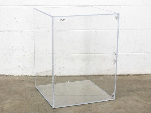 "Acrylic 18.5"" x 24"" x 19"" Desiccator Dry Box w/ Magnetic Door - Cracked Plastic"
