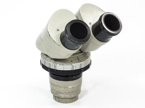 Nikon Microscope Stereo Head Pod *AS-IS / FOR PARTS* Stuck Zoom Knob