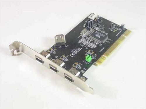 VIA 4 Port FireWire PCI Card IEEE 1394A SD-FW6303-3I