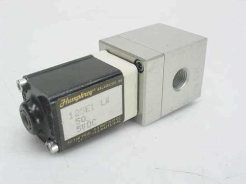Humphrey Solenoid Valve 3-100 PSIG AC / DC 125E1 LW 50 5VDC