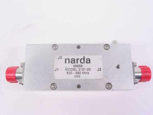 Narda Microwave Coupler 820 - 900 MHz 3151-20