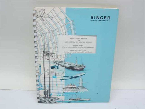 Singer Instrumentation Maintenance Manual for Meter Deviation Monitor Mod