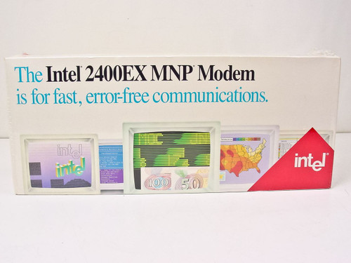 Intel 2400EX MNP Class 5 Modem (New) PCEM7424