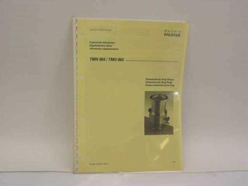 Balzers Pfeiffer TMH 064/ TMU 064 Turbomolecular Drag Pumps Operati PM 800 321