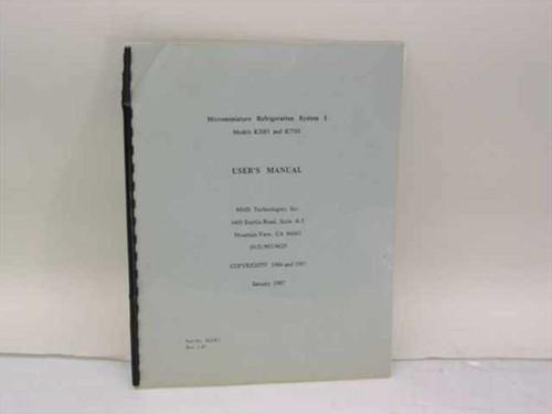 MMR Technologies Microminiature Refrigeration System I User's Manua M2001