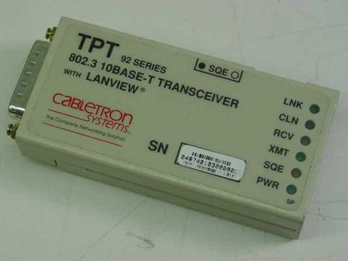 Cabletron 802.3 10 Base-T Transceiver with Lanview (TPT 92 Series)
