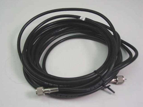 Black 16Ft Cable with Mini UHF Connections on ends RG 58 C/U MIL-C-17
