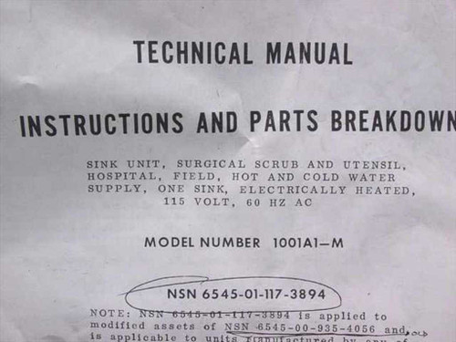 Precision Products Technical Manual Instruction and Parts Breakdown f