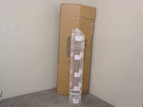 """Sci Tech 8"""" x 48"""" Quartz Tube Furnace Glass with Gas Inlet (9-24-800)"""