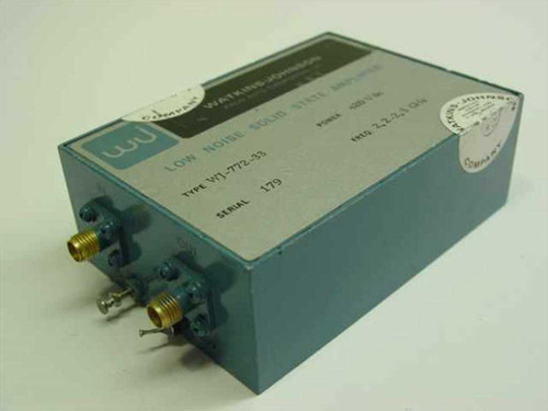 Watkins-Johnson Low Noise Solid State Amplifier Wj-772-33