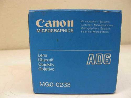 Canon Micrographics MGO-0238 Microfiche Reader AO6 Micro Lens AO6