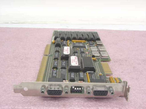 Excelogic Video Card Dual 9-Pin 15-Pin 19-Bit ISA with Dip Switches VGA-16H