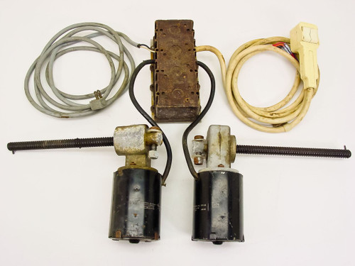 Motors Bi-directional A set of two geared, electric motors with Cables