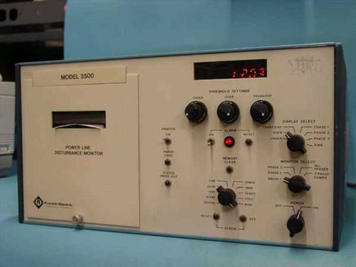 Franklin Electric Power Line Disturbance Monitor w/Chart Recorder (3500)