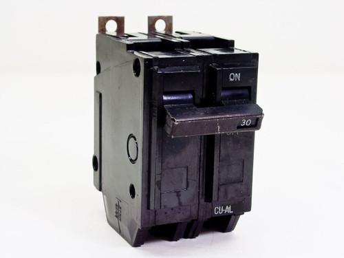 GE 2 Pole 30AMP Circuit Breaker (CU-AL)