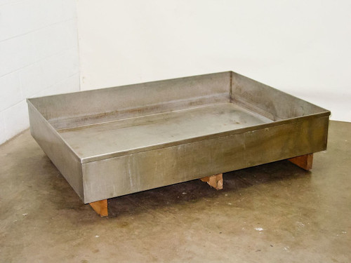 """Stainless Steel Large Lab Safety Chemical Catch Basin (38"""" x 52"""" x 8"""")"""