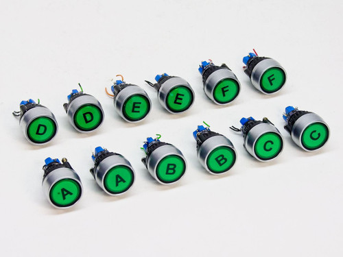 EAO 1.2 Watt Pushbutton Switch Buttons - Lot of 12 (14-131.025)