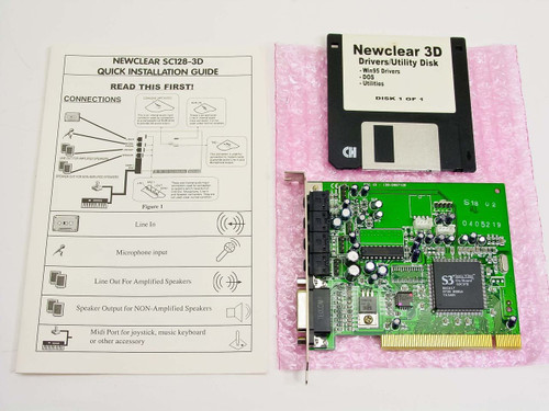 NEWCOM, INC. NEWCLEAR Sound card SC128-3D