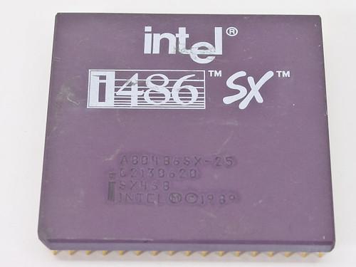 Intel SX468 i486/25MHz SX CPU A80486SX-25 - Tested GOOD