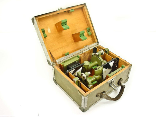 Wild Heerbrugg Targets for Surveying Theodolite with Wood Lined Case (GZM 3)