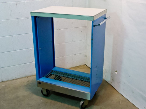 Wright Line Blue Cart on Wheels  Data Processing Accessories