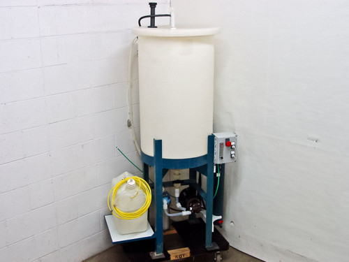 """Ryan Herco Flow Solutions Conical Drum with 24"""" Stand, Pump, Filter Housing, 55"""