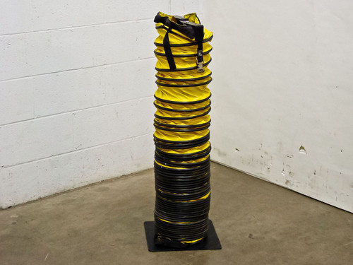 """Exhaust Duct 15' Length with 9"""" Diameter with Storage Stand (Flexible)"""