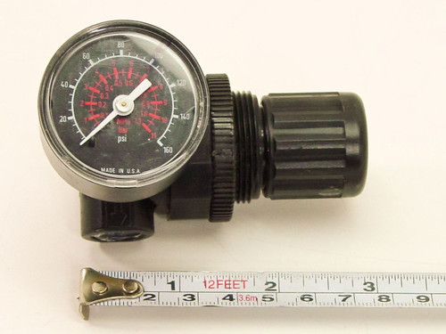 Norgren Mini Regulator 1/4 Inch with 160 PSI Gauge (R07-219-RGKA)