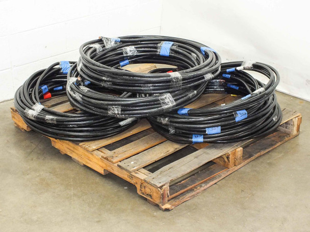 LOT OF Various  Lengths of MCM 250 Heavy Gauge Electrical Cables