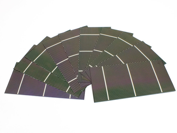 "Solopower 7.5""x 3.75"" CIGS 1.25 Watt Stainless Steel Flexible Solar Cell 10 QTY"