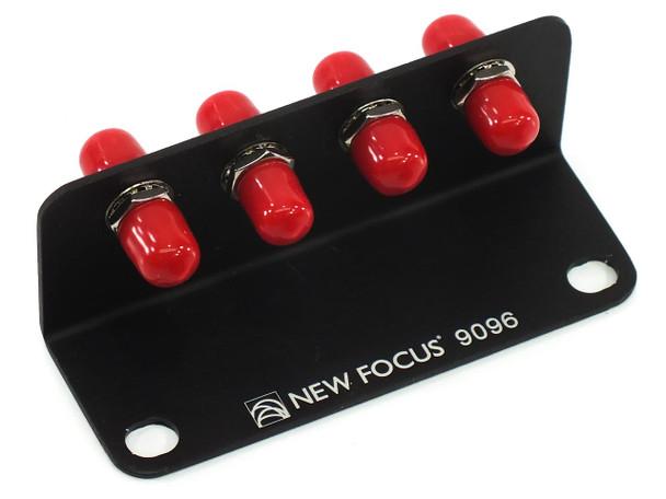 Newport New Focus 9096 Four Position Fiber Optic Bracket, FC Bulkhead Connectors