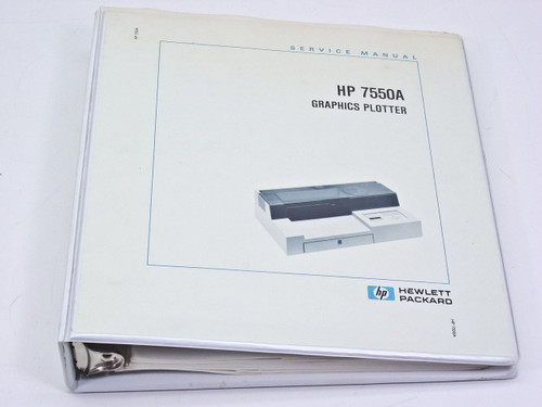 Hp 7550a plus 8 pen color plotter vinyl cutter printer.