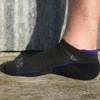 Black with blue trim