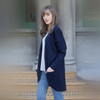 Silver Stream - Relaxed Fit Batwing Merino Cardigan
